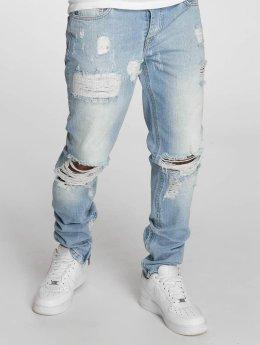 Criminal Damage Straight Fit Jeans Carter blå