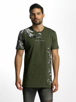 Criminal Damage t-shirt Paulo olijfgroen