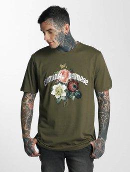 Criminal Damage Männer T-Shirt Gabriel in olive