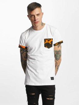 Criminal Damage Dazzle T-Shirt White/Orange