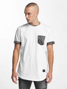Criminal Damage T-Shirt Side Curve Pocket weiß