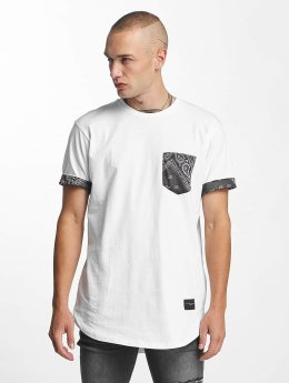 Criminal Damage T-Shirty Side Curve Pocket bialy