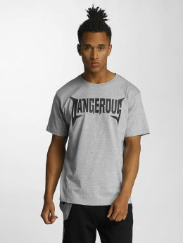 Dangerous DNGRS Methal T-Shirt Grey Melange