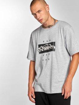 Dangerous DNGRS Topping T-Shirt Grey Melange