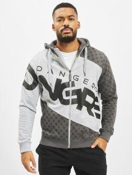 Dangerous DNGRS Hoodies con zip Veli grigio
