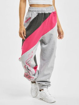 Dangerous DNGRS Skull Sweat Pants Grey Melange/Charcoal Mela