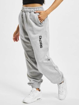 Dangerous DNGRS Soft Dream Leila Ladys Logo Sweat Pants Heather Grey