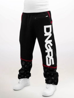 Dangerous DNGRS Crosshair Baggyfit Sweat Pants Jet Black/Chili Pepper