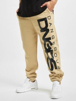 Dangerous DNGRS Classic Sweatpants Beige/Black