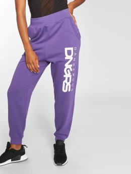 Dangerous DNGRS Soft Dream Leila Ladys Logo Sweat Pants Purple