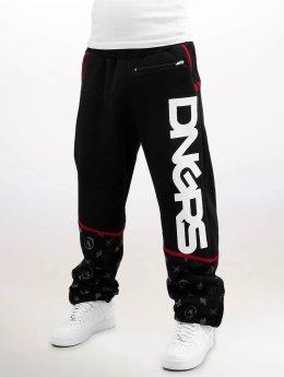 Dangerous DNGRS Pantalone ginnico Crosshair Baggyfit Sweat Pants nero