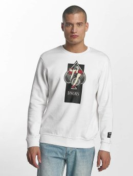 Dangerous DNGRS Pullover Pikwire Crew Neck weiß