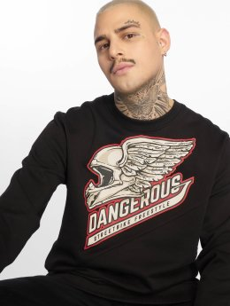 Dangerous DNGRS Sweat & Pull Romain Crewneck noir