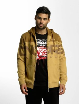Dangerous DNGRS Sweat capuche zippé Two Tone brun