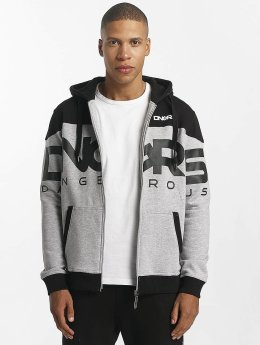 Dangerous DNGRS Sweat capuche zippé Two Tone gris