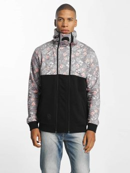 Dangerous DNGRS Sweat capuche zippé Flower noir