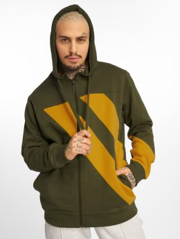 Dangerous DNGRS Sweat capuche zippé Strip Zip olive