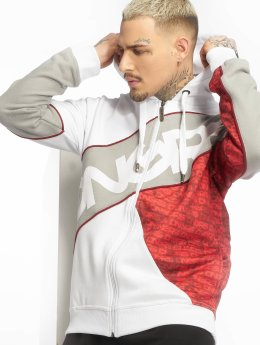 Dangerous DNGRS Sweat capuche zippé DNGRS Flush rouge