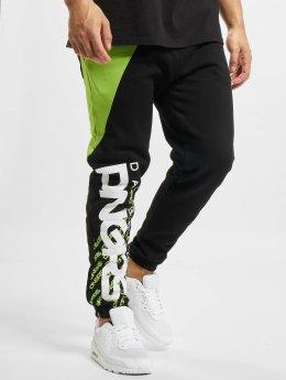 Dangerous DNGRS Noah Sweatpants Black/Neon Green