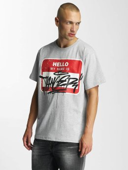 Dangerous DNGRS Hello T-Shirt Grey Melange