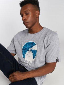 Dangerous DNGRS Spray T-Shirt Grey Melange Blue