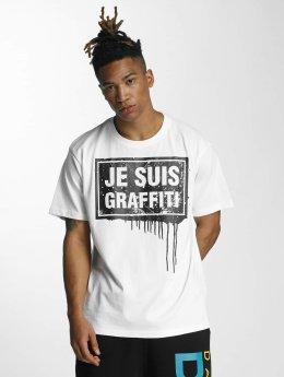 Dangerous DNGRS T-paidat Je Suis Graffiti valkoinen