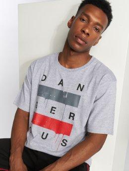 Dangerous DNGRS Uncaged T-Shirt Grey Melange
