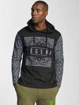 Dangerous DNGRS T-Shirt manches longues Legend Hooded noir