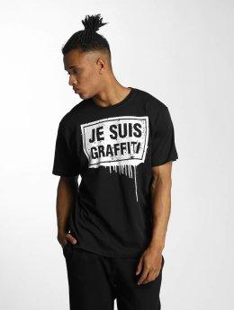 Dangerous DNGRS T-Shirt Je Suis Graffiti schwarz