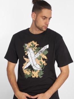Dangerous DNGRS t-shirt Feathercross zwart