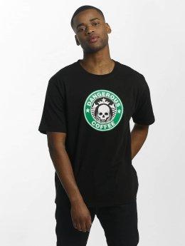 Dangerous DNGRS T-Shirty Coffee czarny