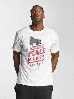 Dangerous DNGRS T-skjorter Peacemaker hvit