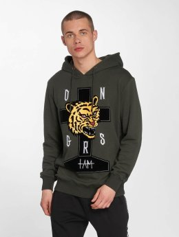 Dangerous I AM Hoodies Akaname zelený