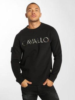 De Ferro Pullover Camo Logo schwarz