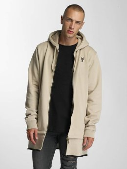 De Ferro Sweat capuche zippé Big Logo beige