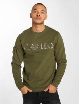 De Ferro Swetry Camo Logo oliwkowy