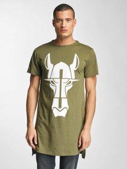 De Ferro T-shirt longoversize Streets Long olive
