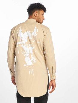 De Ferro T-Shirt manches longues Big Logo beige