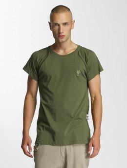 De Ferro t-shirt Logo olijfgroen
