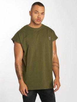 De Ferro t-shirt Bat Sleeve olijfgroen