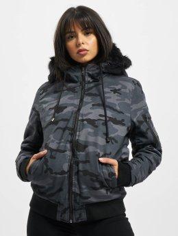 DEF Зимняя куртка Bomber  серый