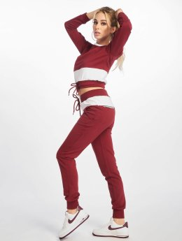 DEF Sweat Suit Burgundy White