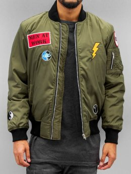 DEF Bomber Peace olive