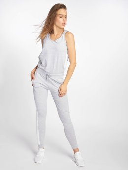 DEF Bat Jumpsuit Grey Melange/White