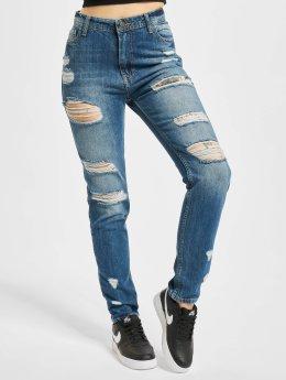 DEF High waist jeans Coral blå