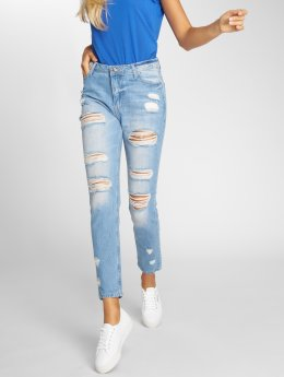 DEF High Waisted Jeans Coral modrá