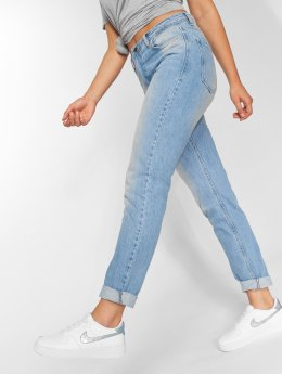 DEF High Waisted Jeans Swoop modrá