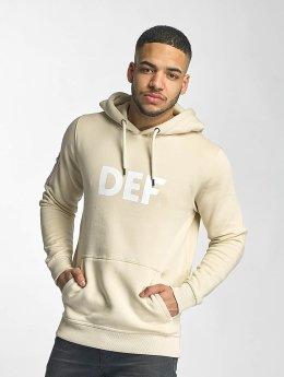 DEF Hoody Logo beige
