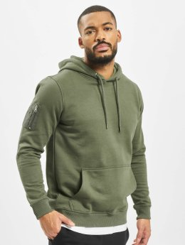 DEF Männer Hoody Upper Arm Pocket in olive