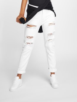 DEF Jean taille haute Coral blanc